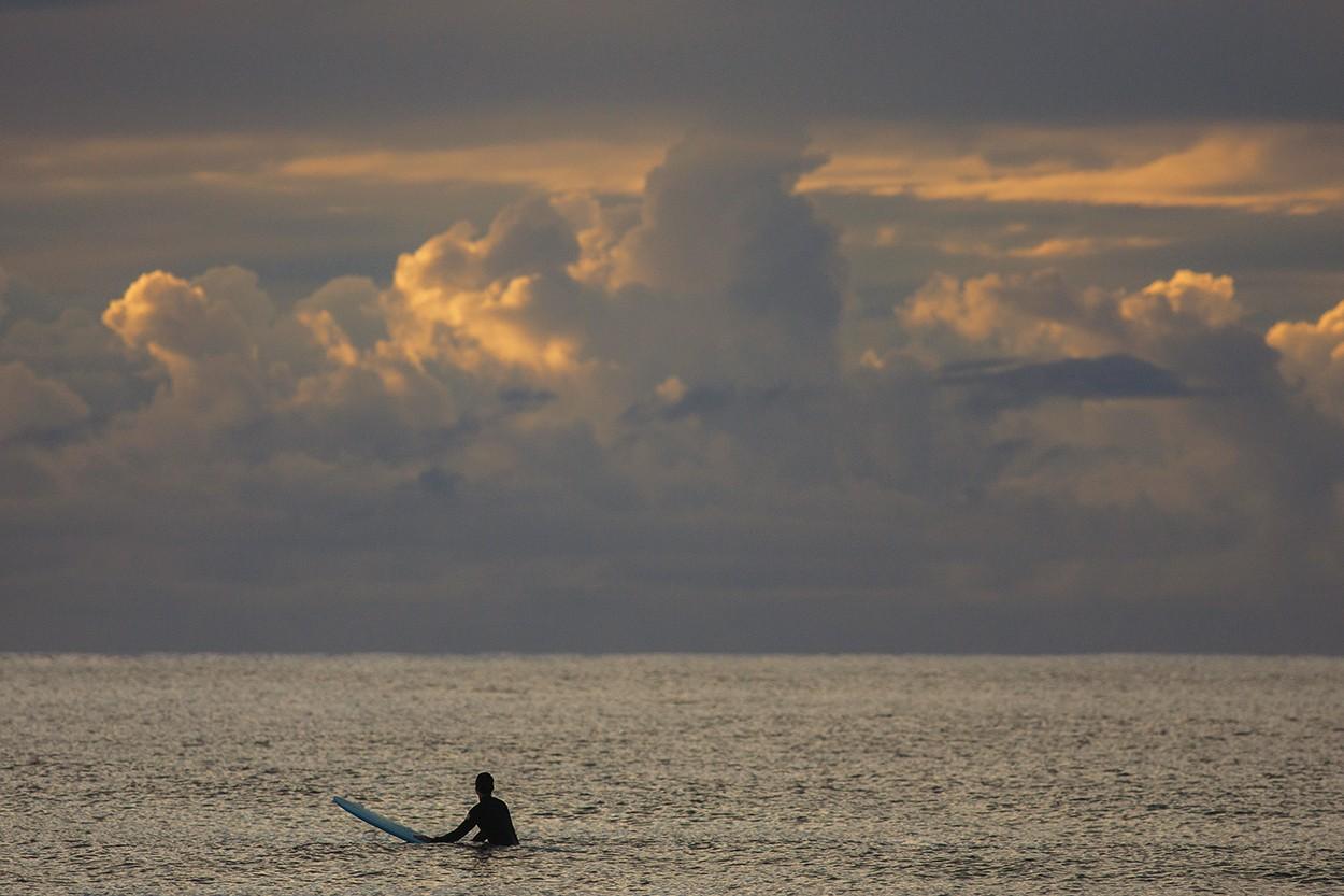 Long Board at Dawn